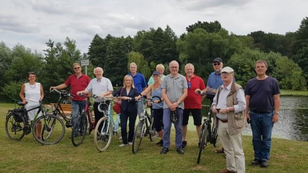 Teilnehmer der Radtour