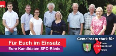 Kandidaten der SPD-Riede für die Gemeinderatswahl-2021